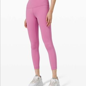 Lululemon wunder under tights magenta glow